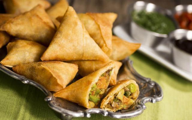 Unhealthy takeout food - Samosa